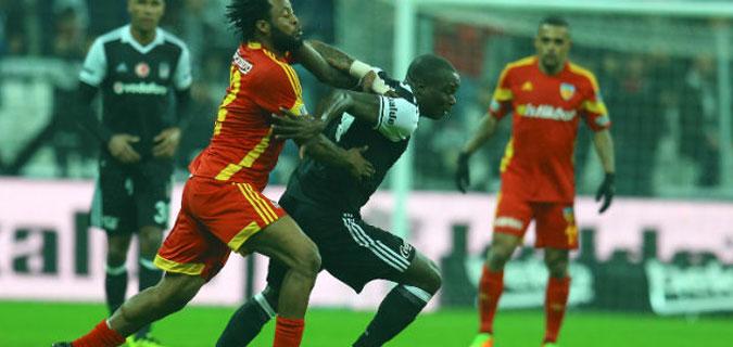 Beşiktaş Kayserispor engeline takıldı