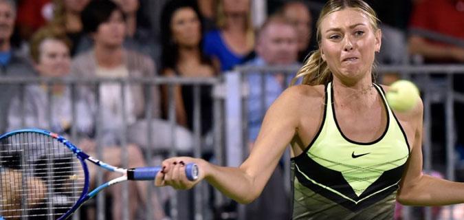 Maria Sharapova aylar sonra kortlarda boy gösterdi