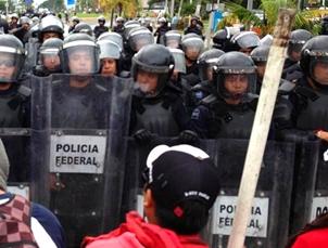 Meksikadaki Protestocuların Eylemi