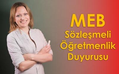 MEB Sözleşmeli Öğretmenlik Duyurusu